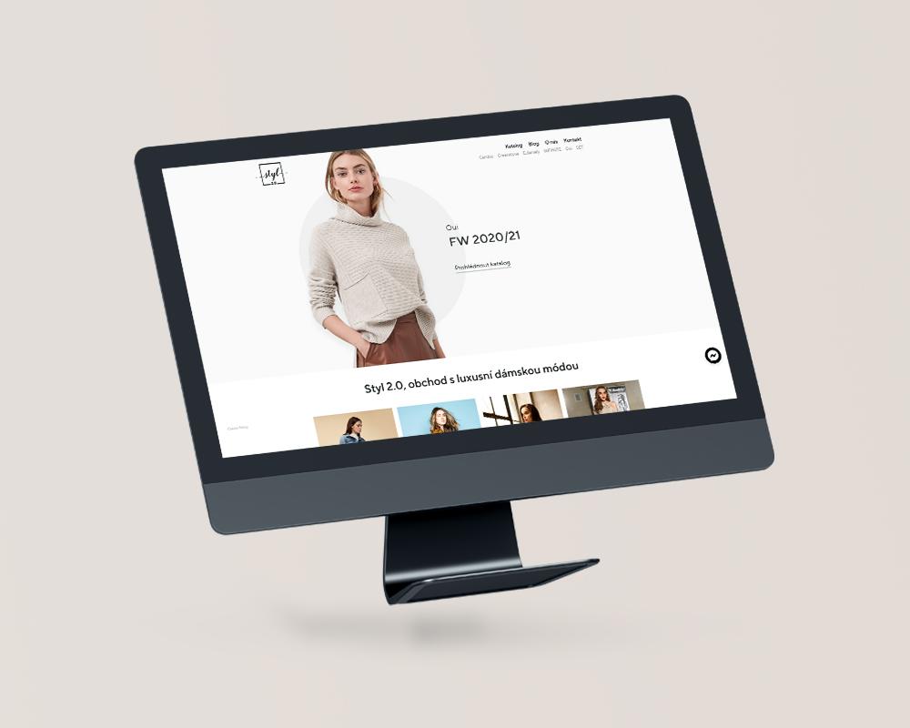 Internetové stránky butik Styl2.0 – Styl2.cz 1000×800