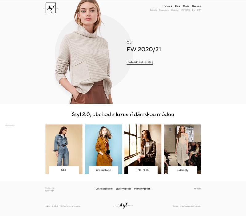 Internetové stránky butik Styl2.0 – Styl2.cz