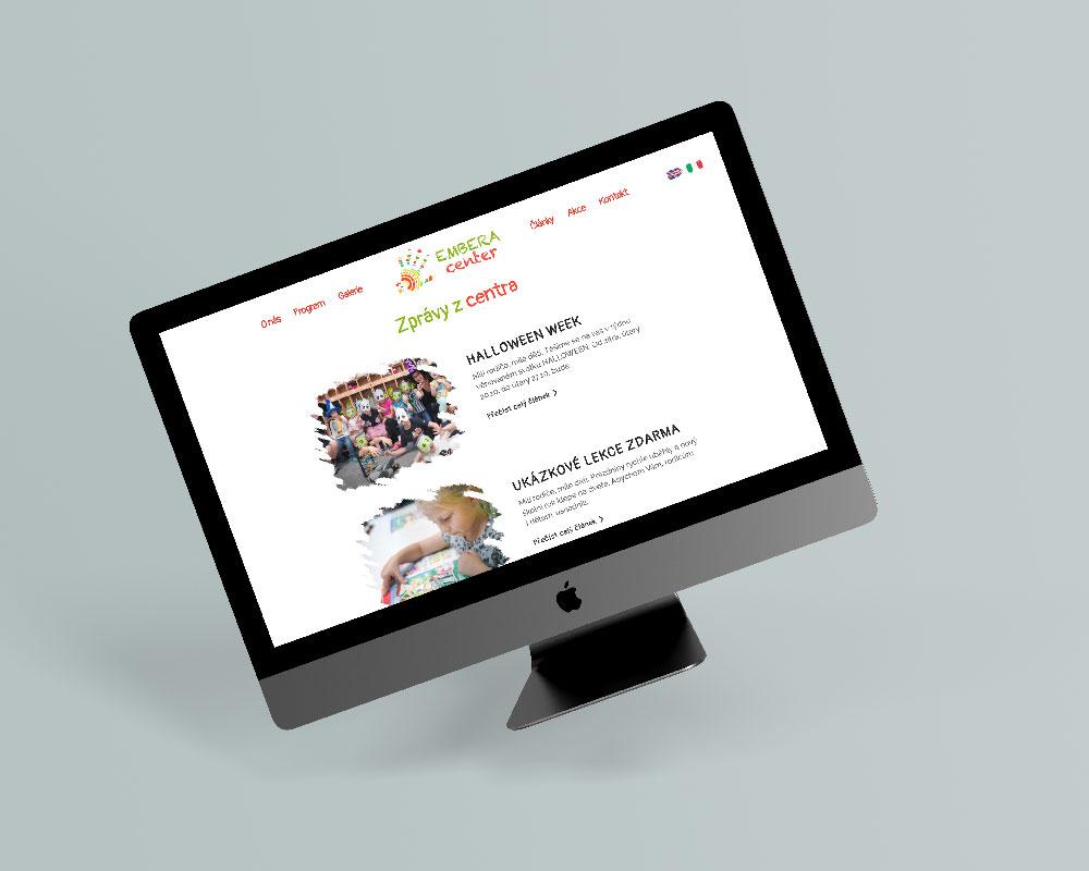 Náhled internetové prezentace Embera center