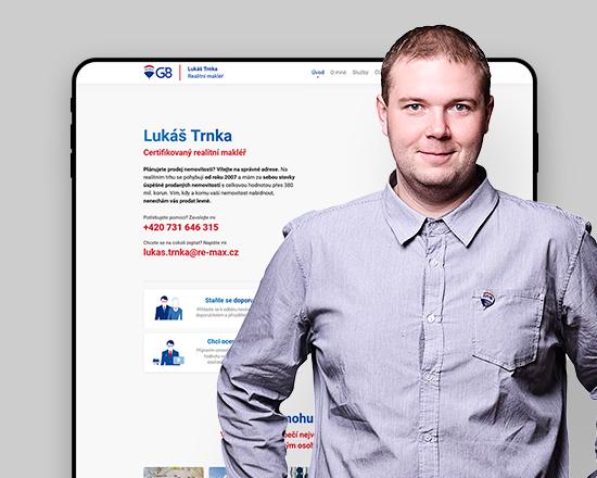 Internetové stránky pro makléře, reference – Lukáš Trnka, náhed